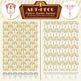Vector elements art-deco style. Pattern, brush, symbol Royalty Free Stock Photography