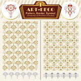 Vector elements art-deco style. Pattern, brush, symbol Royalty Free Stock Image