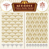 Vector elements art-deco style. Pattern, brush, symbol Stock Image
