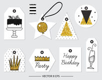 Vector. Elements for Birthday, party, wedding Royalty Free Stock Images