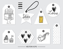 Vector. Elements for Birthday, party, wedding Royalty Free Stock Photos