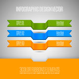 Vector elements for business report. Three banners as infographi Royalty Free Stock Images
