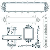 Vector elements for the design of advertisements, wedding and greeting cards Royalty Free Stock Photography