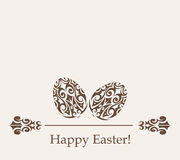 Vector elements for Easter card decoration. Royalty Free Stock Photos