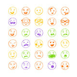 Vector elements for emotion, internet web icons. Stock Photos