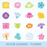 Vector elements - flowers Stock Images
