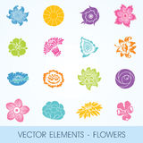 Vector elements - flowers Royalty Free Stock Photos