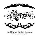 Vector elements of hand drawn paragraph dividers or fancy underline patterns royalty free stock image