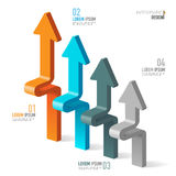 Vector elements for infographic. Vector abstract 3D digital illustration infographic and marketing icons can be used for work flow layout, diagram, annual Royalty Free Stock Photography