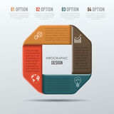 Vector elements for infographic. Vector abstract 3D digital illustration infographic and marketing icons can be used for work flow layout, diagram, annual Royalty Free Stock Image