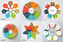 Vector elements for infographic. Vector arrows, heptagon, circles and other elements for infographic. Template for cycle diagram, graph, presentation and round Royalty Free Stock Photography