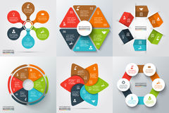 Vector elements for infographic. Vector arrows, hexagon, circles and other elements for infographic. Template for cycle diagram, graph, presentation and round Stock Image
