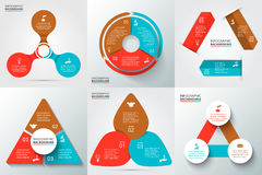 Vector elements for infographic. Vector arrows, triangle, circles and other elements for infographic. Template for cycle diagram, graph, presentation and round Royalty Free Stock Photo