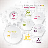 Vector elements for infographic. Template for business concept. With steps processes Stock Images