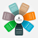 Vector elements for infographic. Royalty Free Stock Image