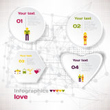 Vector elements for infographic. Template for Valentine love concept Royalty Free Stock Photo