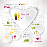 Vector elements for infographic. Template for Valentine love concept Royalty Free Stock Images