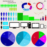 Vector elements of infographics Stock Images
