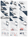 Vector elements for infographics on a white background. Blue elements for infographics on a white background. Presentation templates. Use in presentation, flyer Stock Image