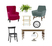 Vector elements for interior design Royalty Free Stock Photo
