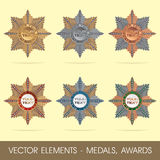 Vector elements - medals, awards Stock Photo