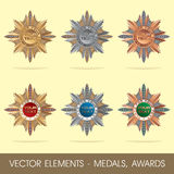 Vector elements - medals, awards Stock Image