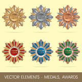 Vector elements - medals, awards Royalty Free Stock Image