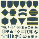 Vector elements for military, army patches, badges set. Vector elements for military, army patches, badges. Set of badge for army and military emblem for patch Royalty Free Stock Images