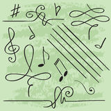 Vector elements for musical design Stock Image