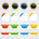 Vector elements set. Set of clean  color web decorative elements Stock Photos