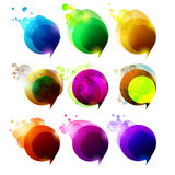 Vector elements for speech. Set of colorful bubbles for Speech Royalty Free Stock Photography