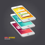 Vector elements of UI. User interface Royalty Free Stock Photography