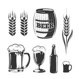 Vector elements for vintage beer festival labels and emblems Royalty Free Stock Photo
