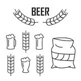 Vector elements for vintage beer festival labels and emblems Stock Images