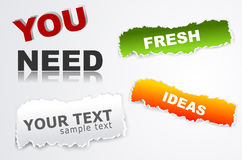 Vector elements for web design. The  elements for web design Royalty Free Stock Photography