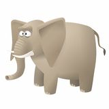 Vector elephant cartoon Royalty Free Stock Images