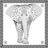 Vector Elephant Doodle Stock Images