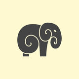 Vector Elephant logo design Royalty Free Stock Photography