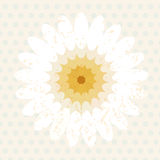 Vector elliptical element of the center affine geometry flower Royalty Free Stock Photo