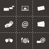 Vector email icons set Royalty Free Stock Photo