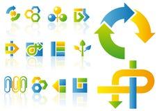 Vector embleem en ontwerpelementen Stock Afbeelding
