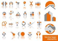 Vector embleemelementen Royalty-vrije Stock Foto
