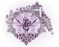 Vector emblem royalty free illustration