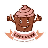 Vector emblem cupcake Royalty Free Stock Photography