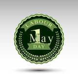 The vector emblem for labour day Stock Photo