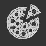 Vector Emblem Pizza Stock Images