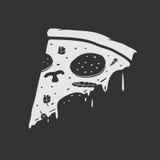 Vector Emblem Pizza Stock Photo