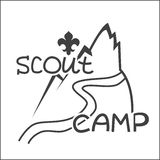 Vector emblem Scout camp Royalty Free Stock Image