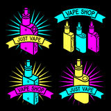 Vector emblem of vape Stock Photography