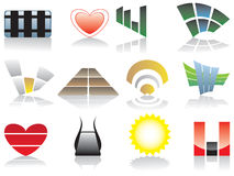 Vector emblemen en elementen Stock Fotografie